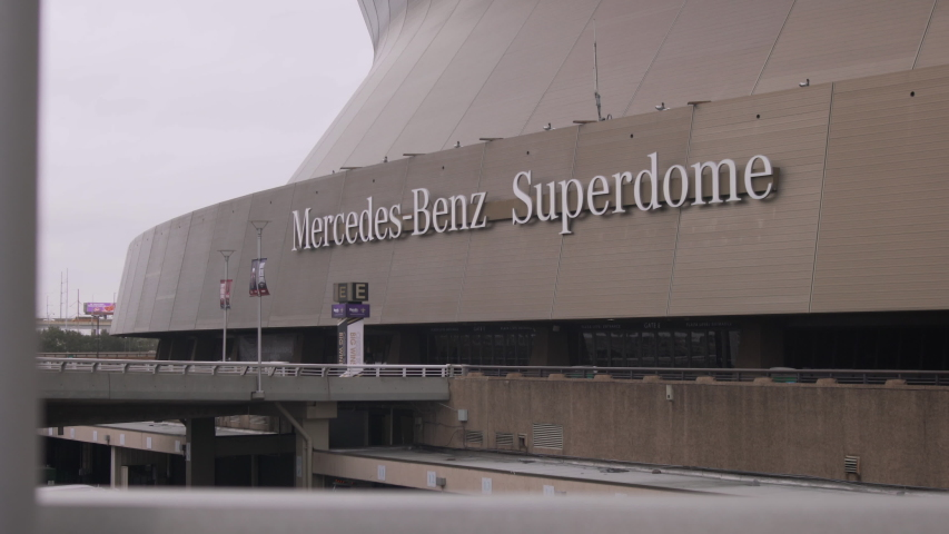 New Orleans, Louisiana - February 10, 2020: the NFL's New Orleans Saints' Mercedez-Benz Superdome