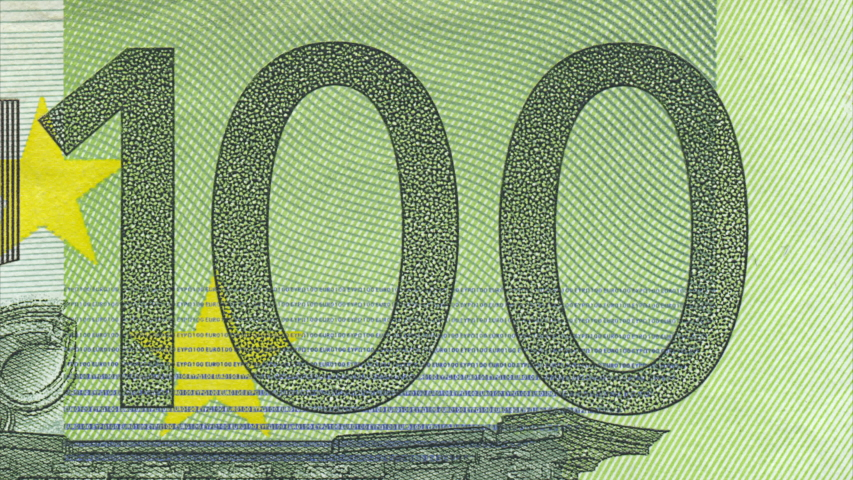 One hundred Euro cash macro view. 100 Euro Cash Stop Motion animation. Macro of banknote Euro. Euro money closeup. Concept - Finance Business Investment Success | Shutterstock HD Video #1047046051