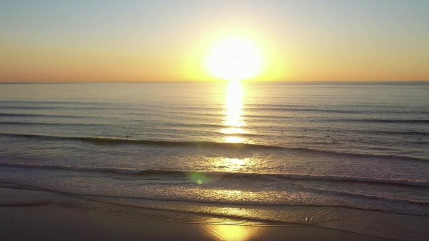 California Beach Town on the Pacific Ocean Coast Aerial | Shutterstock HD Video #1047052504
