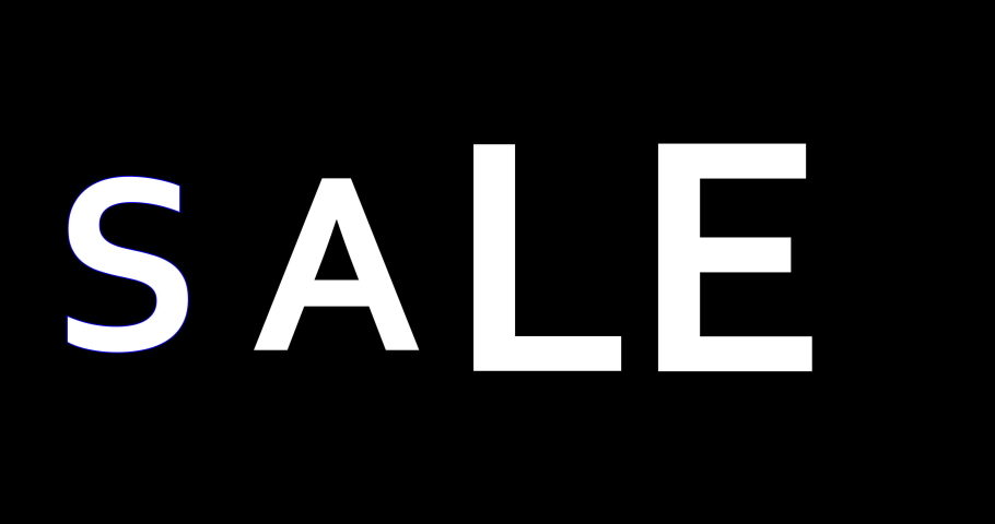 Sale sign with neon glow. 4K animated text background for social media marketing advertising campaigns. White sale word animated on black background #1047092641