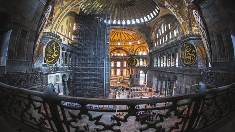 Hagia Sophia Interior Stock Video Footage - 4K and HD Video Clips ...