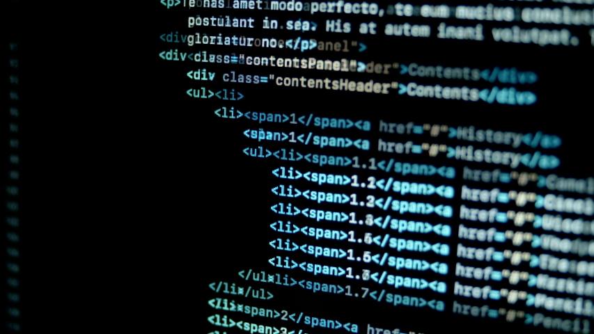 4.6 Scroll HTML programming code on laptop screen | Shutterstock HD Video #1047141418