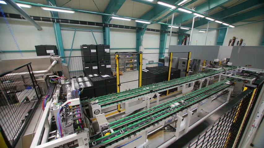 Manufacturing factory conveyor belt working timelapse shot #1047155719