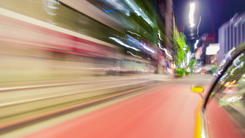 Point of view time-lapse (hyperlapse)  through the city at night by car. Tokyo, Japan | Shutterstock HD Video #10472000