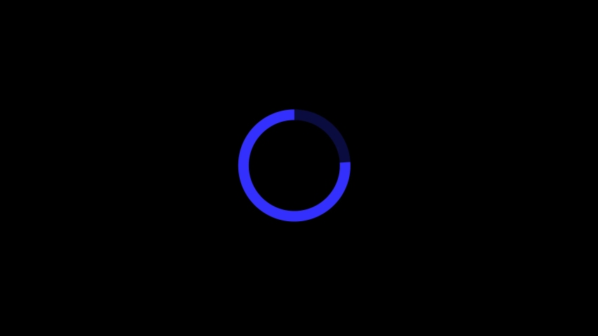 New blue color Loading circle icon is waiting to load the video | circle loading ring rotating #1047276835