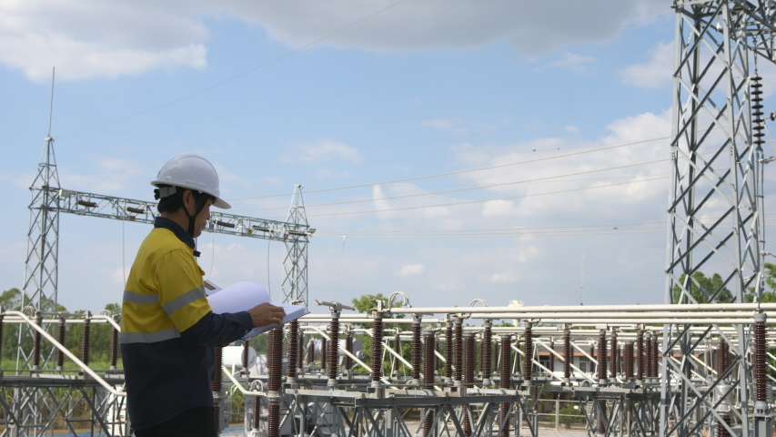 Electrical Engineer Checking Plan Verify Energy System Project High Electricity | Shutterstock HD Video #1047332572