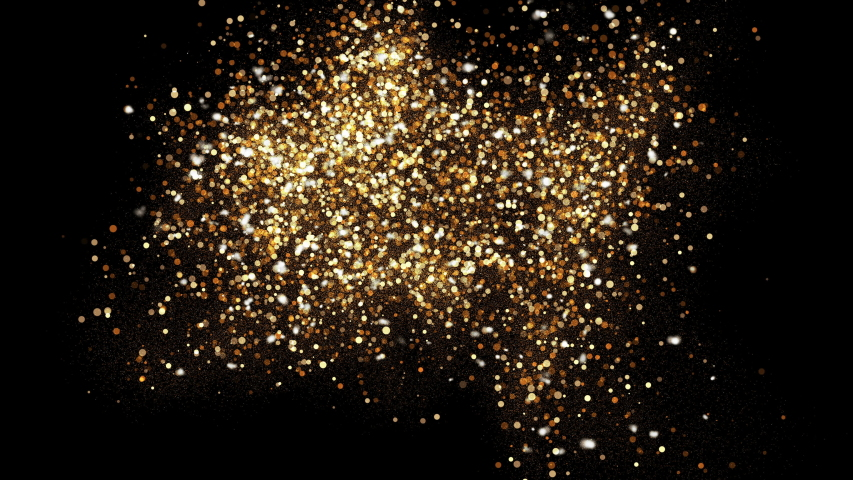 4k Abstract motion background shining gold particles stars sparks wave movement,Beautiful glittering bokeh at night.  | Shutterstock HD Video #1047367684
