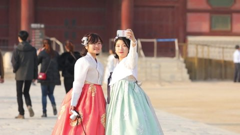 Korean Girl Hanbok Palace Stock Video Footage 4k And Hd Video Clips Shutterstock