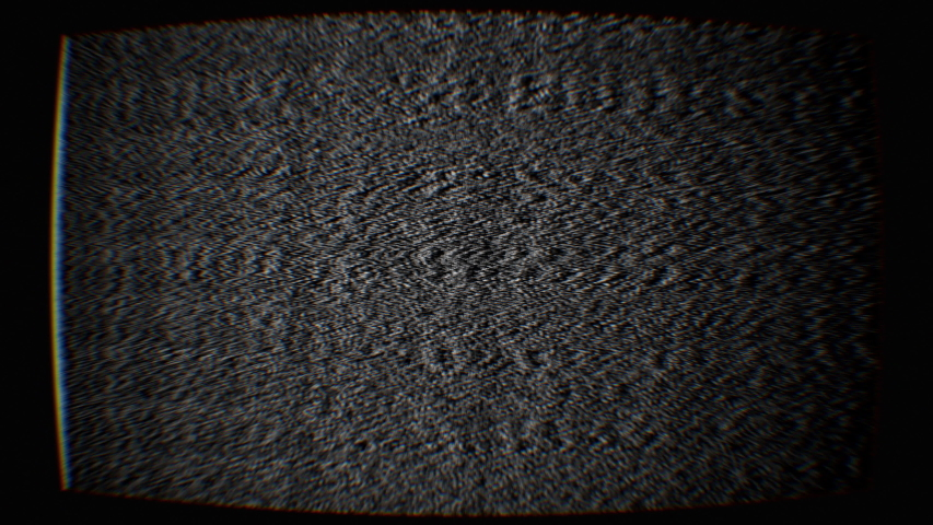 Vintage switch on, turn off television. Analog Static Noise texture. Monochrome, black and white offset flickering noise. Screen damage TV effects and artifacts. VHS. Bad interference. Retro 80s, 90s