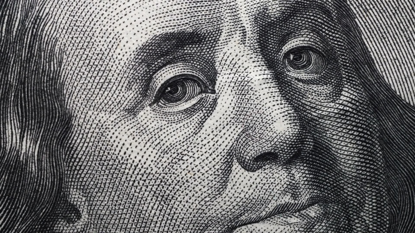 Extreme close up footage of an American Dollar | Shutterstock HD Video #1047634924