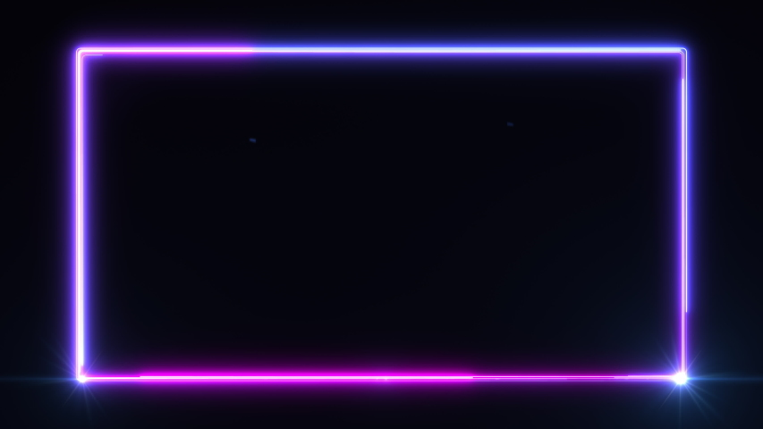 4k Glowing Neon Line Abstract Background, Abstract Seamless Background Blue Purple Looped Animation Neon Light, Lens Flare #1047669631