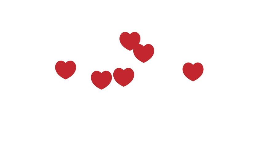 Red Hearts on white background | Shutterstock HD Video #1047716611