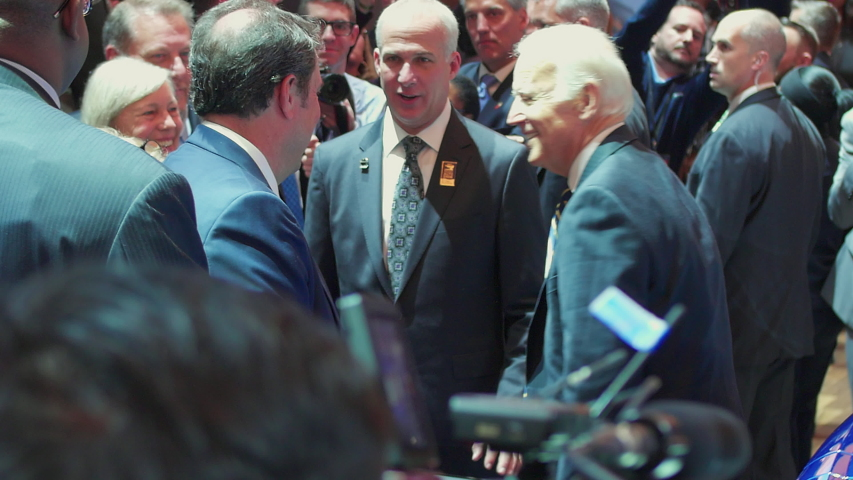 Detroit, Michigan - January 10 2017: Vice President Joe Biden Tours North American International Auto Show in Michigan along with GM Exec, specifically President Mark Reuss in the Motor City by Chevy