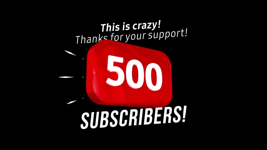 500 followers thank you video post. Special 500 user goal celebration for five hundred social media friends, fans or subscribers. Celebrate with your fans. | Shutterstock HD Video #1047742219