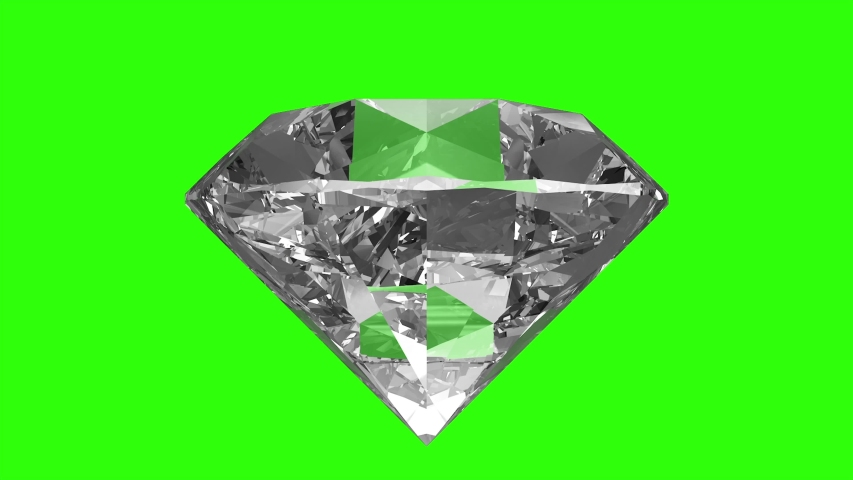 Diamond rotating green screen video | Shutterstock HD Video #1047744265