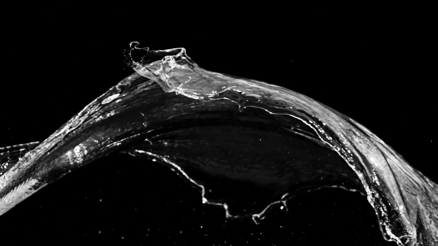 Slow motion of water splash abstract particle on black background | Shutterstock HD Video #1047801904