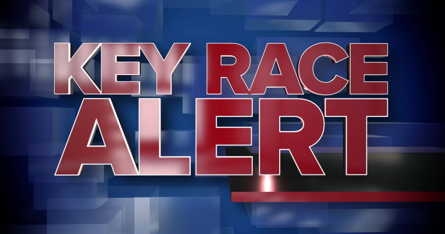 A red and blue dynamic 3D Key Race Alert title page animation.   | Shutterstock HD Video #1047806254