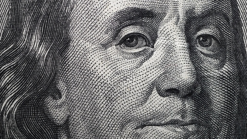 Extreme close up footage of an American Dollar | Shutterstock HD Video #1047824209