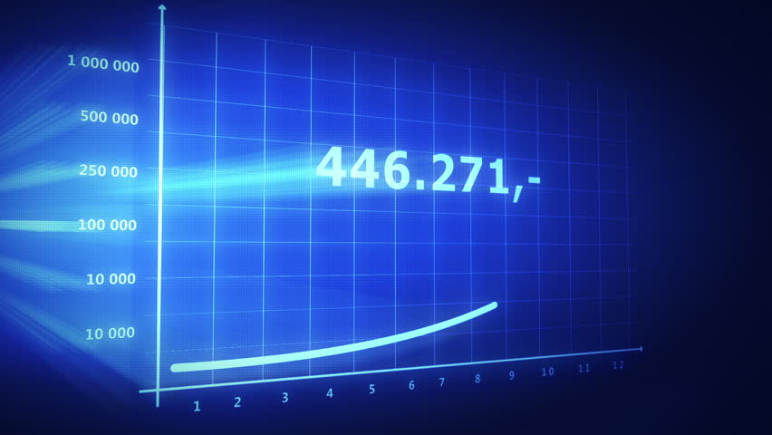 Rapid growth stack in financial data chart | Shutterstock HD Video #1047853