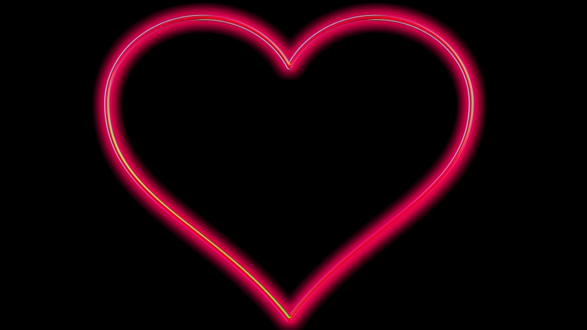 Abstract rotating red heart animation on black background,artwork graphic | Shutterstock HD Video #1047854854