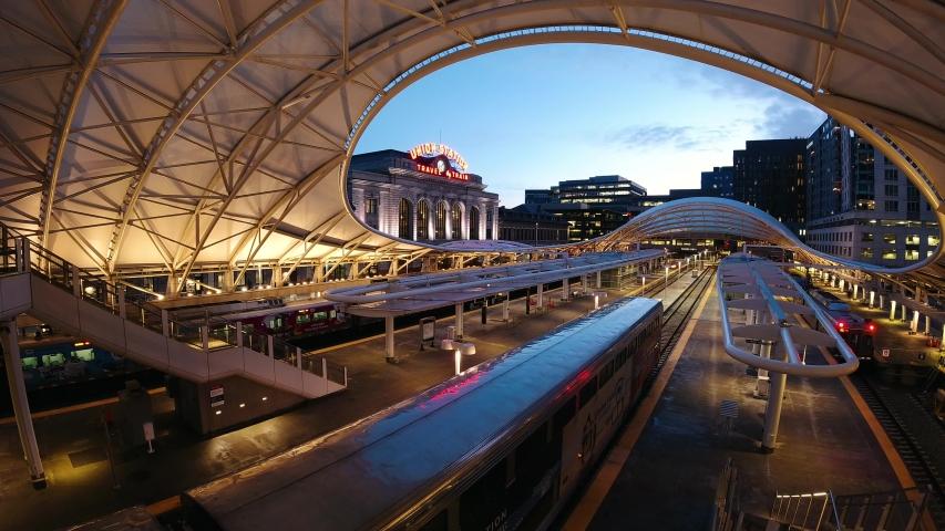 Denver, Colorado - 3/2/20 - Union Station, central train station of Denver