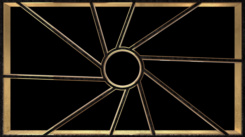 Art Deco Gun barrel sequence background. Incl ALPHA MATTE. Ideal 4K 3D animated intro for TV show, documentary movie, catwalk stage design or The Great Gatsby and 1920s theme related projects. | Shutterstock HD Video #1047913129