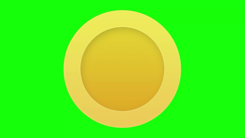 Animated spinning gold coin on green screen. Tossing or rolling coin as visualisation of donation or money in business or finance videos. Excitement, luck, fortune. Flat vector object animation. Royalty-Free Stock Footage #1047930868