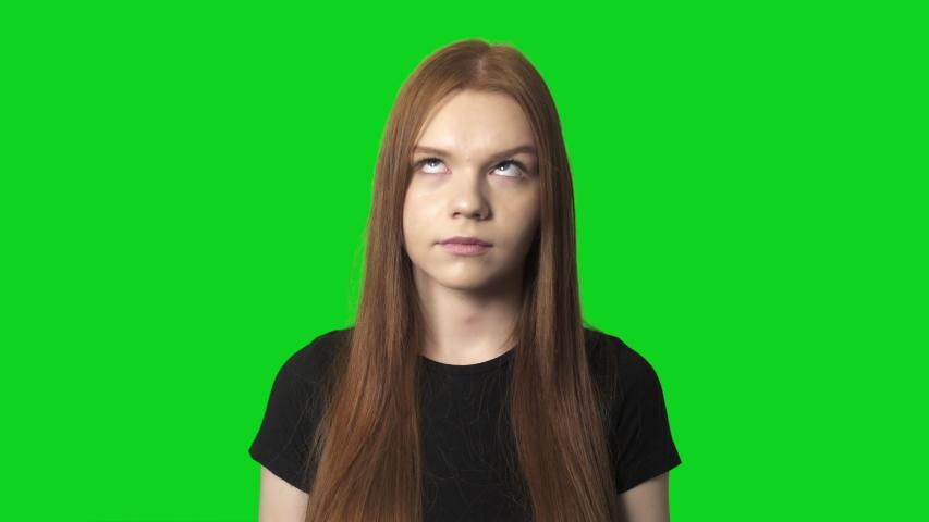 Rolling Eyes Woman Live Face Emoji Emotions | Shutterstock HD Video #1047941983