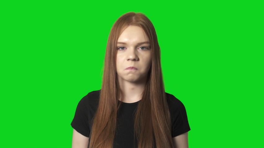 Pouting Woman Live Face Emoji Emotions | Shutterstock HD Video #1047942016
