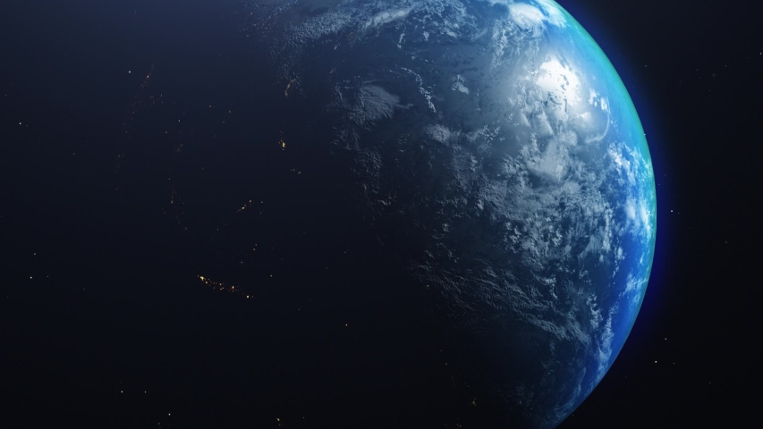 Rotating earth from space with movement | Shutterstock HD Video #1047947695