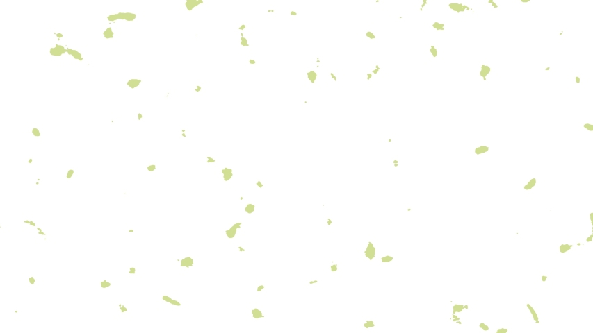 Abstract animation of small green shapes on white background. Colorful seamless loop animated background, wallpaper. #1047954523