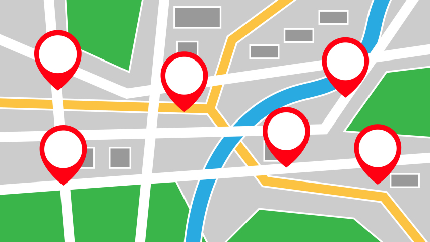 GPS city map locations animation.motion animation. #1047996979