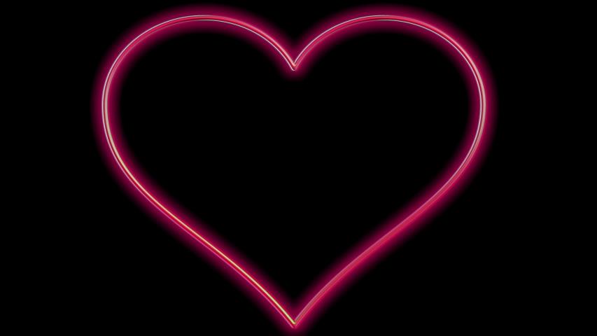 Red shining heart shape multiplies endless on black screen/ animation | Shutterstock HD Video #1048030999