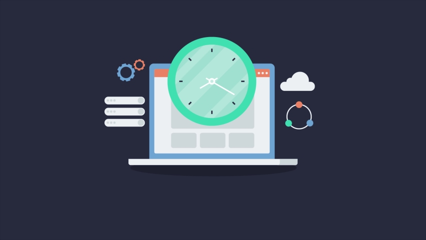 Website loading speed, page loading speed, SEO performance, pagespeed analysis - conceptual animated video clip | Shutterstock HD Video #1048100536