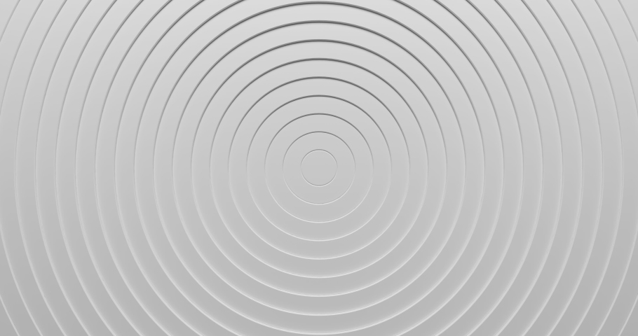 Abstract 3d circles ring pattern animation background with ripple effect. Sound wave motion graphic for business presentation backdrop. 4K seamless loop clean and clear white texture. #1048175113