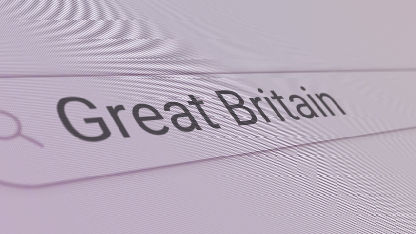 Great Britain Search Bar  Close Up Single Line Typing Text Box Layout Web Database Browser Engine Concept   Shutterstock HD Video #1048190581