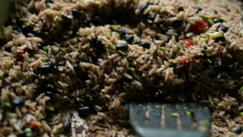 Gallo Pinto tipical central american food rice and beans costa rican | Shutterstock HD Video #1048207387