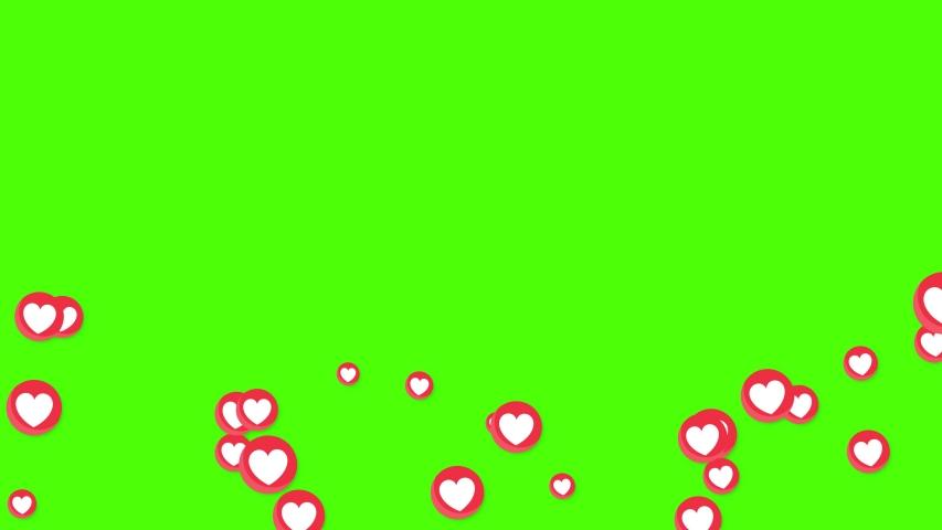 Moving Love Expression Icons Emotion Symbols for social media. #1048239037