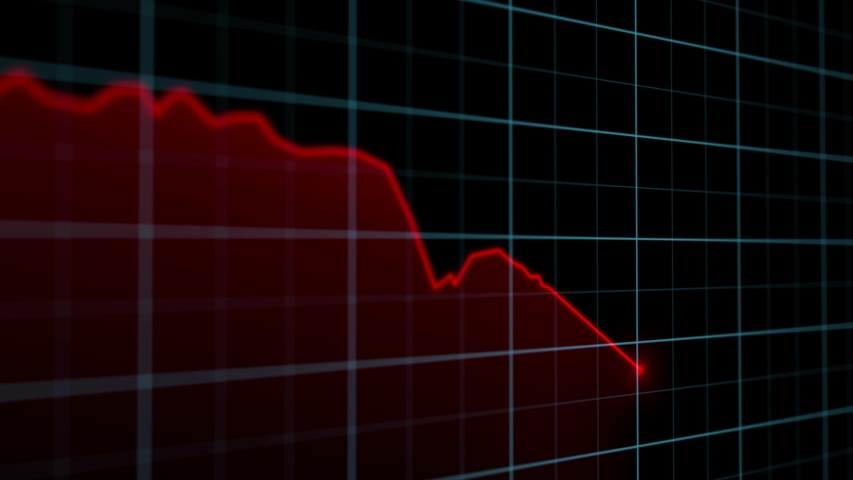 On the stock market, the share price falls. Falling prices of securities. Loss of assets in equities stock. Decreasing trend showing unsuccessful performance and losses failure due to economic crisis | Shutterstock HD Video #1048252339