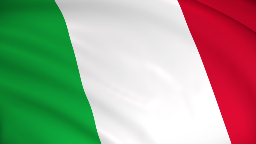 The national flag of Italy - 4K seamless loop animation of the Italian flag. Highly detailed realistic 3D rendering | Shutterstock HD Video #1048258150