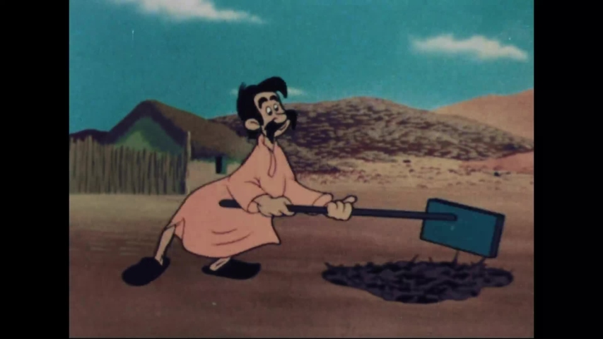 CIRCA 1945 - In this animated film, a man demonstrates how to keep lice, flies, and mosquitos away from one's home.