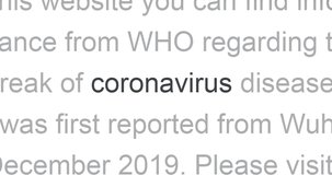 Coronavirus in the headlines of media news around the world. Video with zoom.