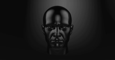 Headshot of Man Appearance Through Wall, Creating a Artificial Intelligence Software, Human Like Face, Virtual Friend Metaphor,  AI Friend, Robot, Cyborg Appearing, Online Dating, Danger of ID Theft