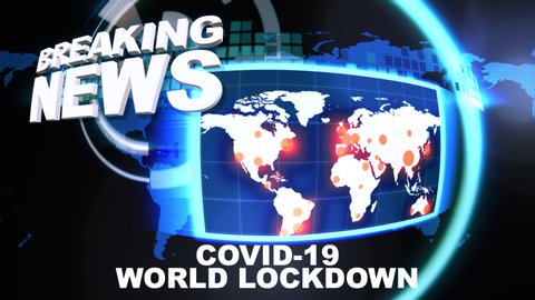 Breaking News Intro Bulletin Covid19 Stock Footage Video 100 Royalty Free 1051127638 Shutterstock