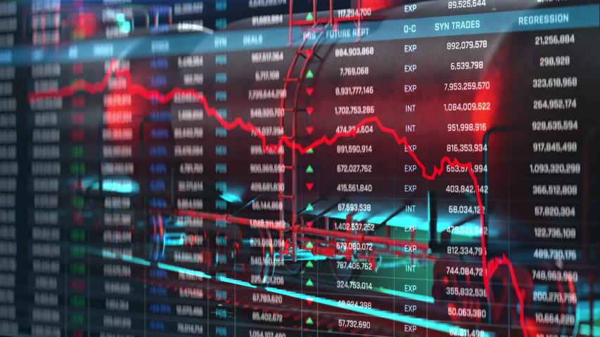 Oil plummets, prices plunge, energy market crisis, worldwide stock market crash. Trading, price war, collapse Royalty-Free Stock Footage #1048562680