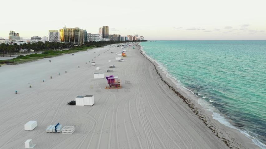 Miami Beach shut down closure Coronavirus Royalty-Free Stock Footage #1048590091