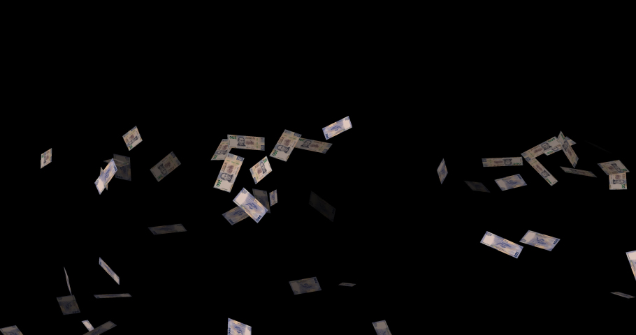 500 mxn falling mexican peso transparent background | Shutterstock HD Video #1048651159