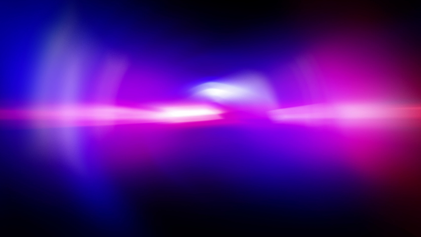 Red and Blue Lights Police beacon on a black background. Light leaks Pulsing and Glowing in 4K seamless loop. Police flashing light, Emergency lights flashing in the dark, Optical Lens Flare Effect.