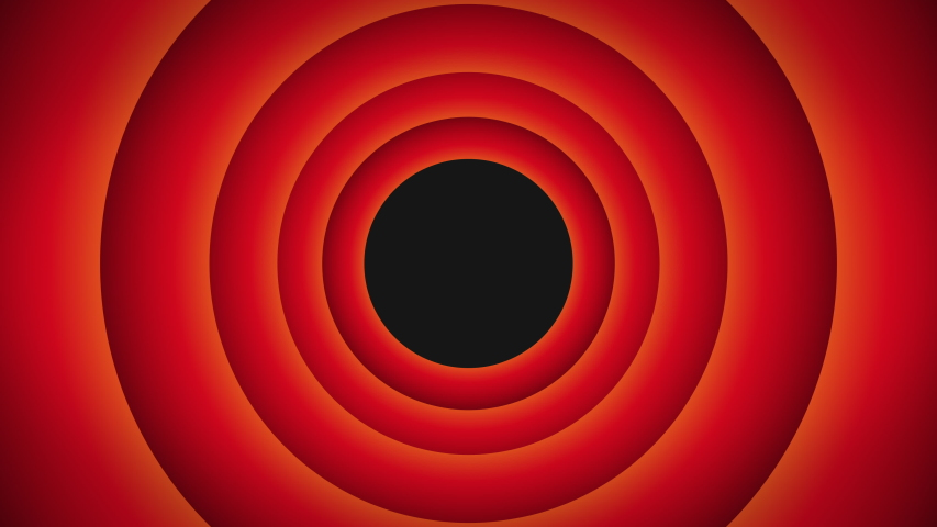 4K  Animation Cycle Pop up Background Red and Black