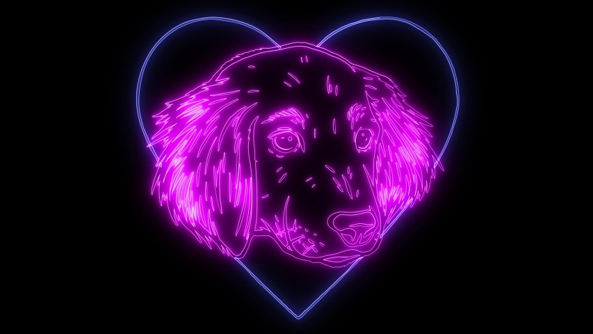 A Dog in love shape logo a, for dog lovers logo or mascot | Shutterstock HD Video #1048903432